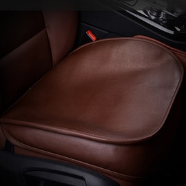 High-Grade Cattlehide Leather Material Durable 1-Piece Single Car Seat Mat