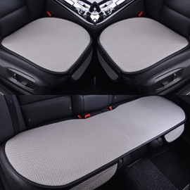 Gray Color Durable PET Material Good Breathability Universal 3-Pieces Five Car Seat Mat