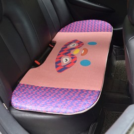 Pretty Cool 1-Piece Cute Glasses Rabbit Cartoon Design Single Universal Car Rear Seat Mat