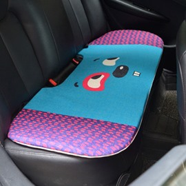 Fashion 1-Piece Cute Smiling Rabbit Cartoon Design Single Car Rear Seat Mat