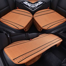 Durable PET Ice Silk Material Good Breathability Summer Spring Universal Car Five Seat Mat