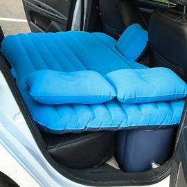Solid Color Cozy Luxurious Purifying Air Coral Velvet Material Car Inflatable Bed