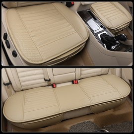 Simple Style Plain Pattern PU Leather Universal Fit Car Seat Mat