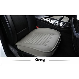 Simple Style Plain Pattern PU Leather Car Seat Mat