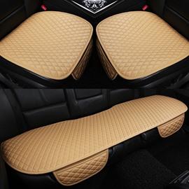 Business Style Plain Pattern Microfiber Material Universal Fit Car Seat Mat
