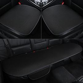 Simple Style Plain Pattern Microfiber Material 3-pieces Car Seat Mat