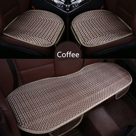 Modern Style Plain Pattern Polyester Material 3-pieces Car Seat Mat