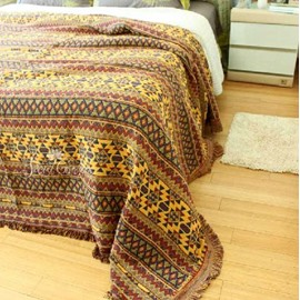 Fancy Vibrant Bohemia Style Stripe Pattern Blanket