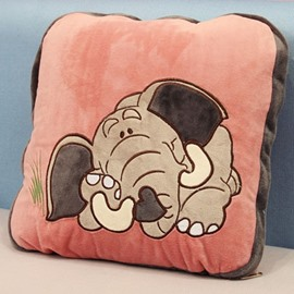 Super Lovely Pink Elephant Throw Pillow and Blanket