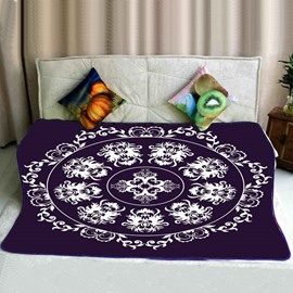 Luxury Mandala Pattern Super Soft Flannel Bed Blankets