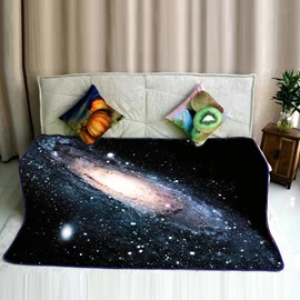 Galaxy Universe Clouds Pattern Super Soft Plush Flannel Bed Blankets