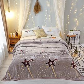 Sparkling Star Super Soft Lightweight Flannel Blanket