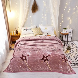 Sparkling Star Ultra Soft Warm Lightweight Flannel Blanket