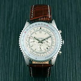 3 Dial Water Resistant 47mm Calendar Date Luminous Black Men's Wrist Watches