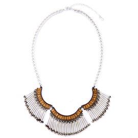 Women' s Vintage Steel Tube Tassel Alloy Necklace