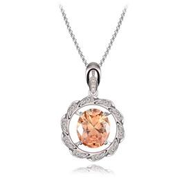Women' s Diamante Meteor Ring Zircon Pendant Necklace