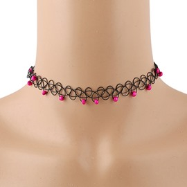 Women's Vogue Colorful Beads Choker Necklace