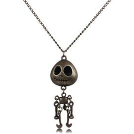 Halloween Style Vintage Cartoon Skull Pendant Necklace