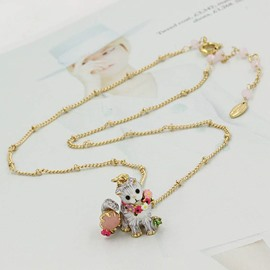 Cute Cat Design Enamel Glaze Pendant Necklace