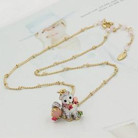 Cute Cat Design Enamel Glaze Pendant Necklace