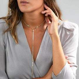 Golden Length Sexy Alloy Chain Choker for Women&Girls Necklace