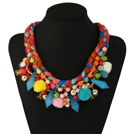 New Fashion Tassel Chain Colorful Necklace