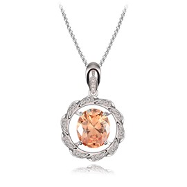 Women' s Diamante Meteor Ring Zircon Pendant Necklace