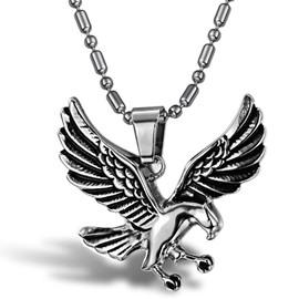 Men's Cool Titanium Steel Eagle Shape Necklace