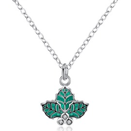 Lovely Leaf Design Alloy Pendant Necklace