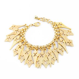 Women's Gold Plated Enviromental Alloy Sparkle Bracelet