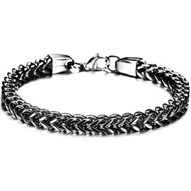 Men' s Fashion Titanium Steel Scale Bracelet