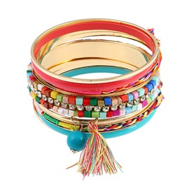 Boho Style Stretch Bead Multilayer Bracelets for Women
