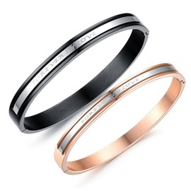 Couples' Fashion Titanium Steel Bangle