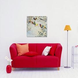 Amazing Modern Creative birds in Field 1-Panel Wall Art Print