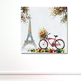 Modern Creative European Scenery in Field 1-Panel Wall Art Print