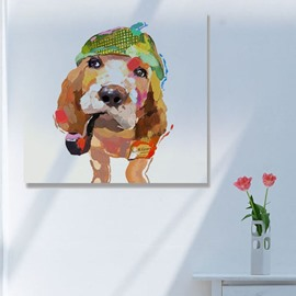Very Cute Dog Hand Painting Wall Prints