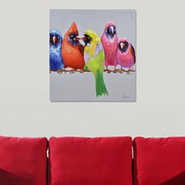 Simple Bird Hand-Painted Wall Prints 60*60