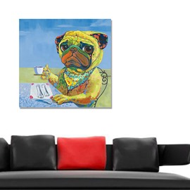 Creative Cute Dog 's Life Hand-Painted Wall Prints