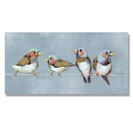 Beautiful Oil Painting Hand Painted Birds Wall Art Prints