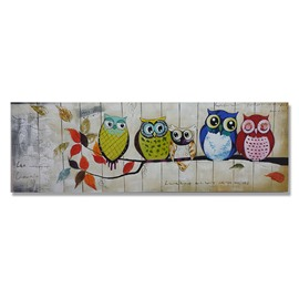 Amazing Hand Painted Owl Wall Art Prints