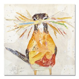 New Arrival Modern Abstract Birds with Grass Oil Painting
