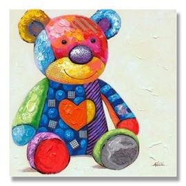 Multicolor Modern Little Bear Oil Painting