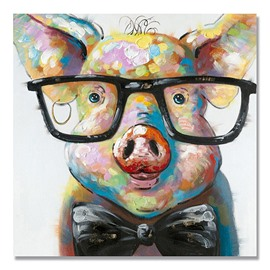 Modern Abstract Animal Pig Oil Painting