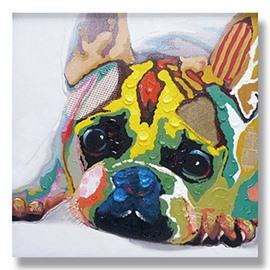 Abstract Sad Dog Hand Painted Oil Painting
