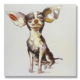 New Arrival Pop Art Cute Dog Hand-Painted Oil Painting