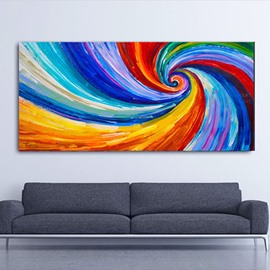 Abstract Colorful Whirlpool Hand Painted Oil Painting