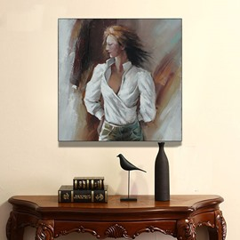 New Arrival Beautiful Woman Hand Painted Oil Painting