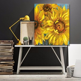 Modern Art Sunflowers Pattern Wall Decorative None Framed Oil Painting