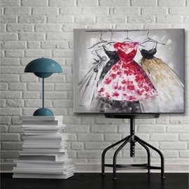 Graceful Square Beautiful Skirt Home Decorative None Framed Oil Painting