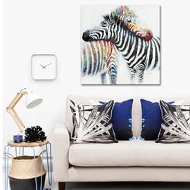 Two Romantic Lovely Zebras Pattern None Framed Oil Painting